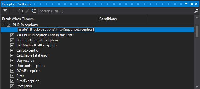Adding the custom exception