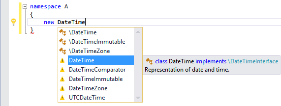 IntelliSense Invisible Types