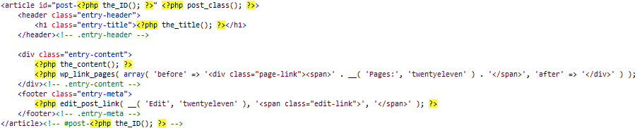 PHP/HTML syntax highlighting