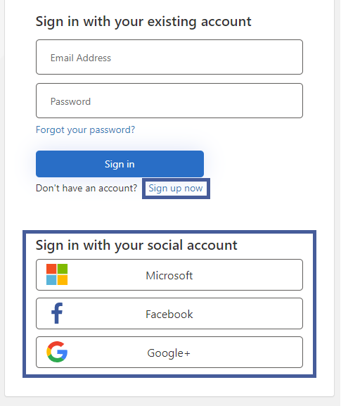 Create new account first