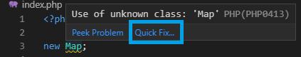 Quick Fix in VS Code